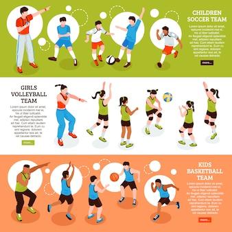 Set di banner sportivi della scuola