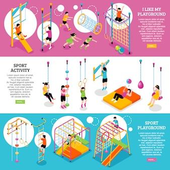 Set di banner sportivi per bambini