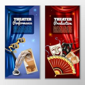Set di banner teatrali