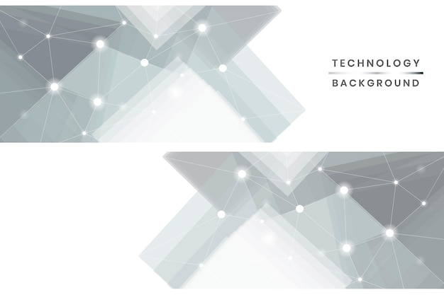 Set di banner tecnologici