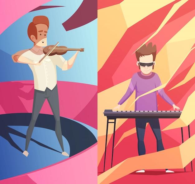 Set di banner verticale di professioni d'arte