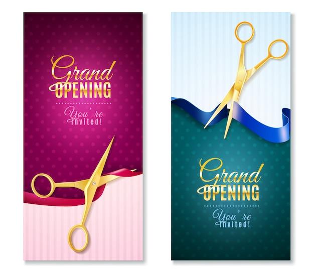 Set di banner verticali di grande apertura