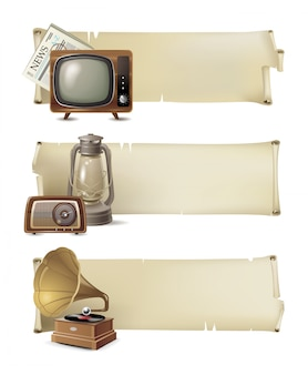 Set di banner vintage