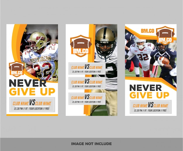 Set di banner web di football americano