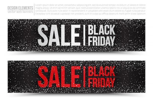 Set di banner web di vendita del black friday