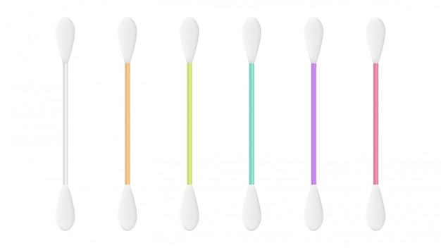 Set di bastoncini di cotone dell'orecchio