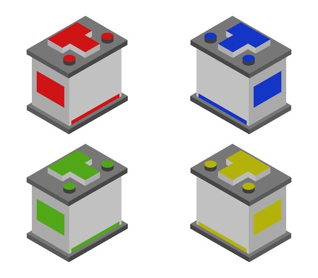 Set di batterie per auto isometriche