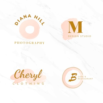Set di bellezza e moda logo design vettori