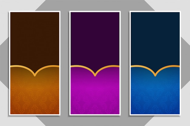 Set di bellissimi banner eleganti
