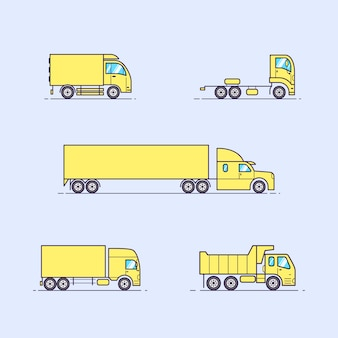 Set di bellissimi camion