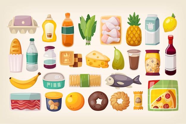 Set di beni comuni e prodotti di uso quotidiano