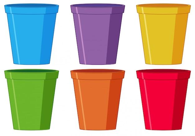 Set di bicchiere di plastica