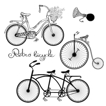 Set di biciclette retrò