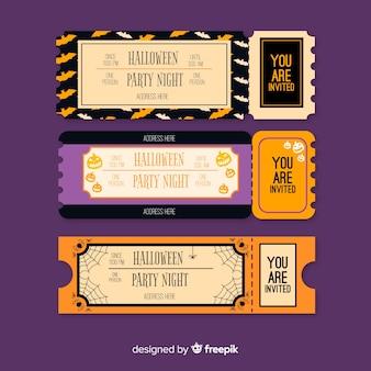 Set di biglietti d'epoca festa di halloween