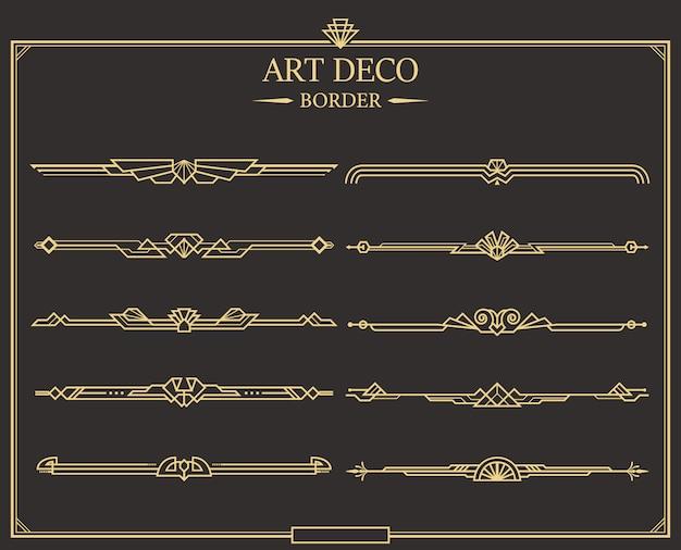 Set di bordi art deco