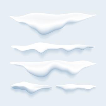 Set di bordi realistici della neve
