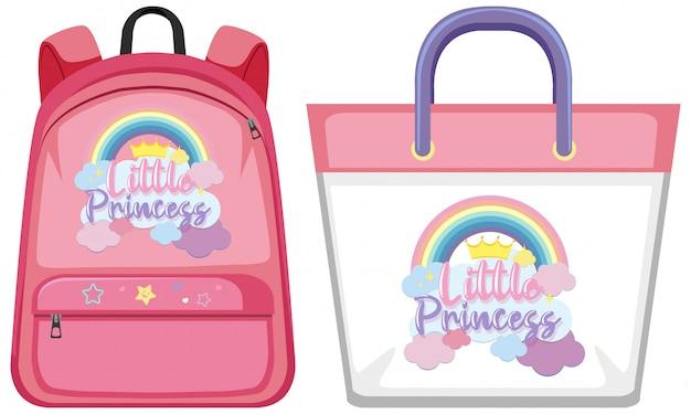 Set di borsa unicorno