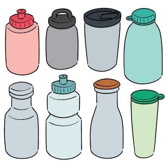 Set di bottiglia d'acqua