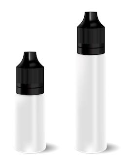 Set di bottiglie con contagocce liquido vape. realistico essenziale