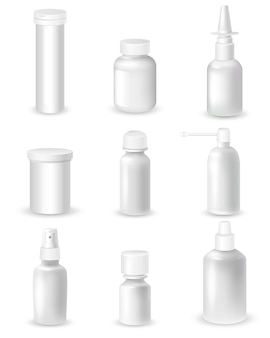 Set di bottiglie di medicina