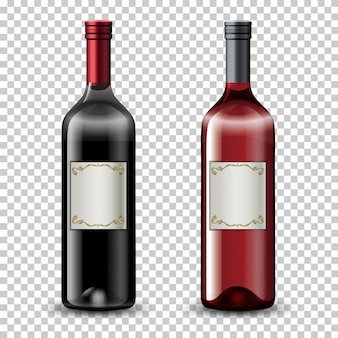 Set di bottiglie di vino