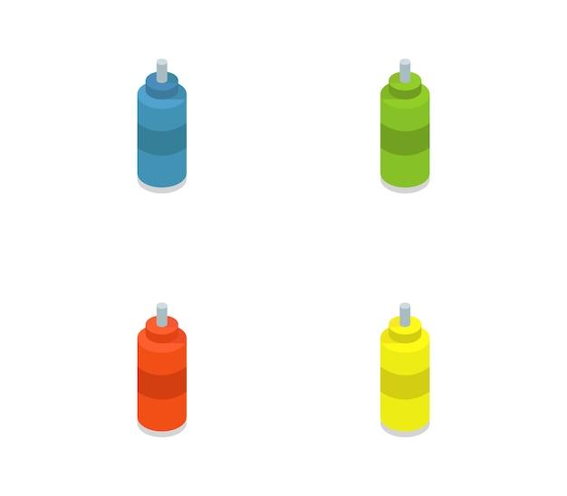 Set di bottiglie isometriche di bici dell'acqua