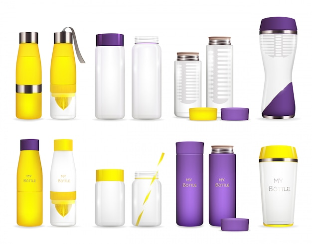 Set di bottiglie per refrigeratore d'acqua