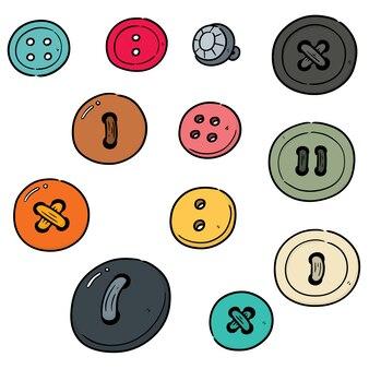 Set di bottone per cucire