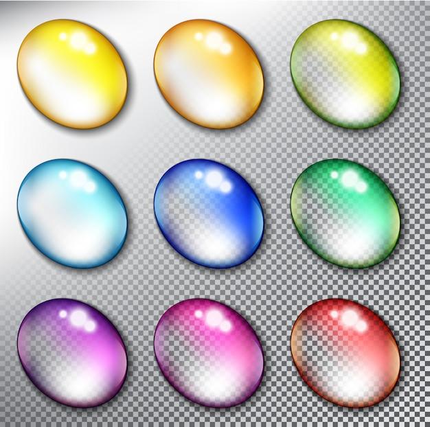 Set di bottoni in vetro