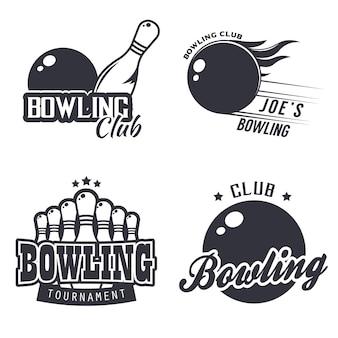 Set di bowling monocromatico a tema