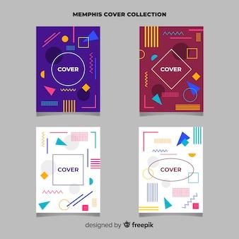 Set di brochure in stile memphis