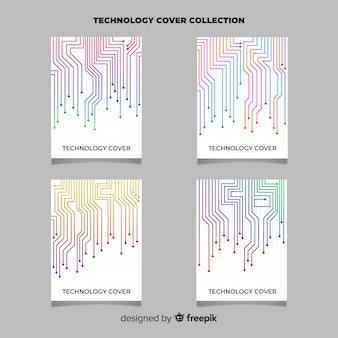 Set di brochure in stile tecnologia