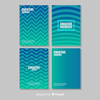 Set di brochure linee geometriche
