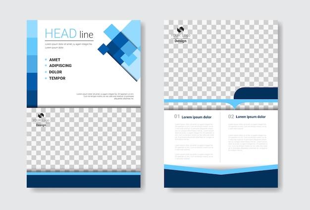 Set di brochure modello di progettazione
