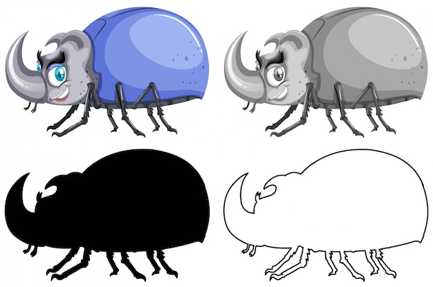 Set di bug beetle