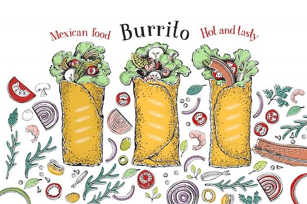 Set di burrito.