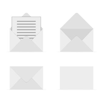 Set di buste grigie. illustrazione