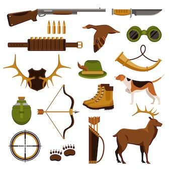 Set di caccia e di caccia