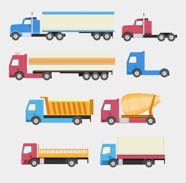 Set di camion, stile piano