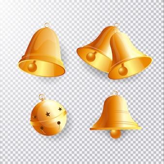 Set di campane di natale realistici