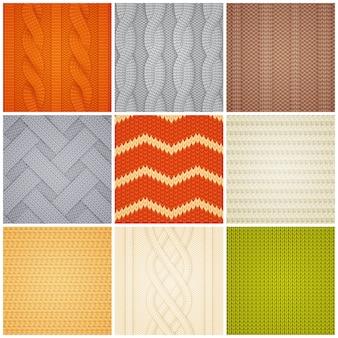 Set di campioni di modelli a maglia realistici