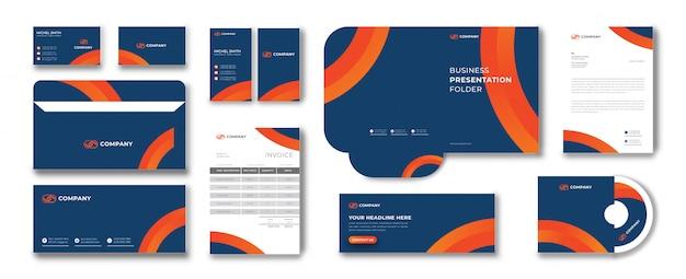 Set di cancelleria per branding professionale aziendale