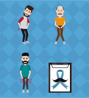 Set di cancro alla prostata del movember