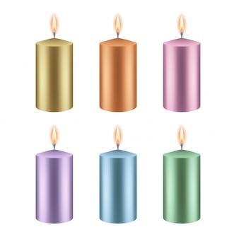 Set di candele colorate