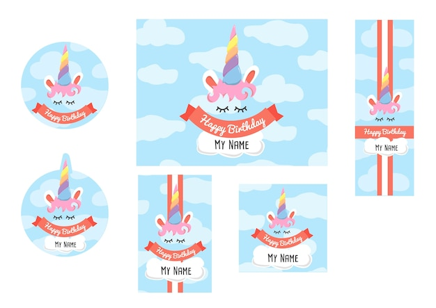 Set di candybar unicorno