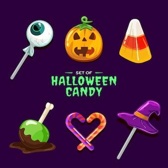 Set di caramelle di halloween