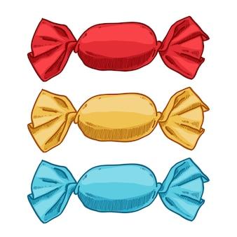 Set di caramelle in involucri