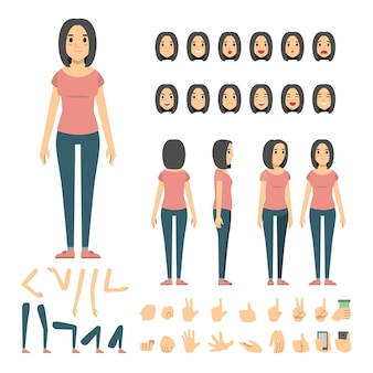Set di caratteri casual donna