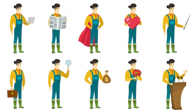 Set di caratteri contadini