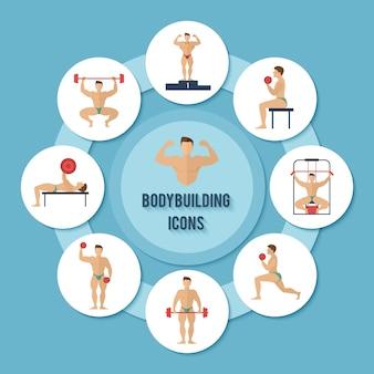 Set di caratteri del bodybuilding